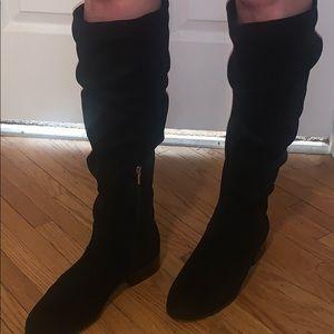 Brand new black suede Aldo boots